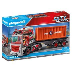 Playmobil - Samochód ciężarowy z przyczepą 70771