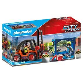 Playmobil - Wózek widłowy z ładunkiem 70772