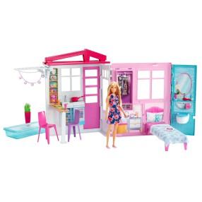 Barbie - Przytulny domek dla lalek Lalka Mebelki Przenośny FXG55