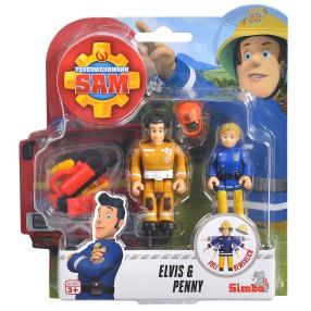 Simba - Strażak Sam 2 Figurki z akcesoriami Elvis i Penny 9251043 E