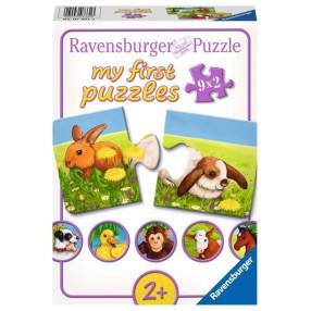 Ravensburger - Moje pierwsze puzzle Urocze zwierzęta 9 x 2 elem. 073313