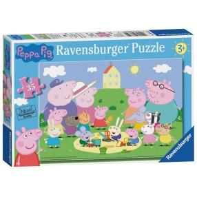 Ravensburger - Puzzle Świnka Peppa Piknik 35 elem. 086320