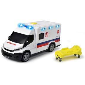 Dickie - Ambulans Karetka Pogotowia Iveco 1:32 Światło Dźwięk 3713012