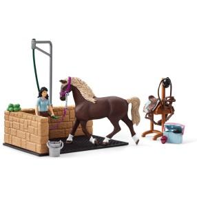Schleich - Myjnia dla koni Emily i Luna 42438