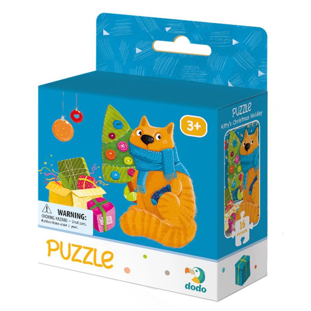 Dodo - Puzzle Kocie Boże Narodzenie 16 el. 300264