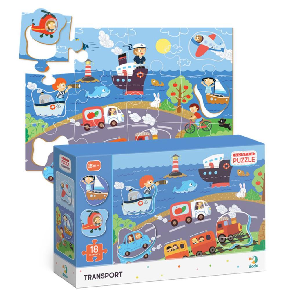 Dodo - Puzzle Sorter Transport 18 el. 300158