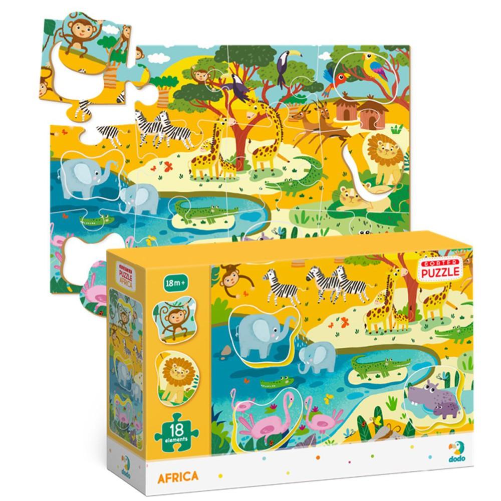 Dodo - Puzzle Sorter Afryka 18 el. 300159