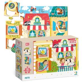 Dodo - Puzzle Sorter Zwierzęta Domowe 18 el. 300160