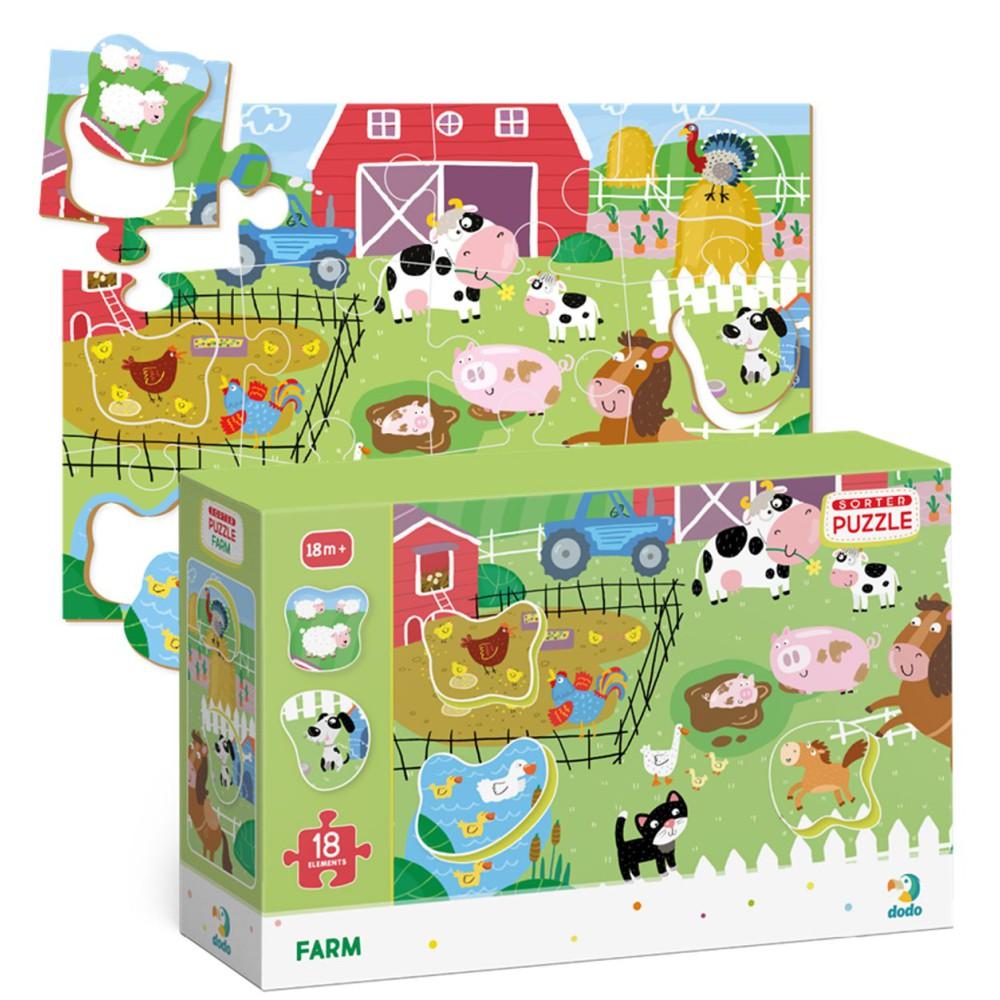 Dodo - Puzzle Sorter Farma 18 el. 300161