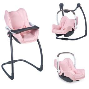 Smoby Maxi-Cosi Quinny - Krzesełko do karmienia, huśtawka, nosidełko 3w1 240235
