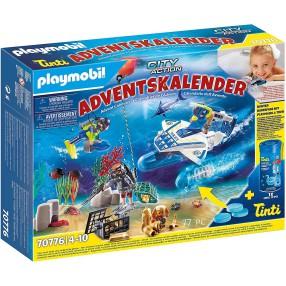 Playmobil - Kalendarz adwentowy - Zabawa w wodzie Akcja nurków policyjnych 70776