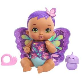 My Garden Baby - Lalka Bobasek Motylek Karmienie i Przewijanie Fioletowa GYP11
