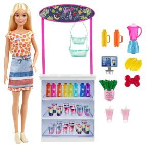 Barbie - Zestaw Barek smoothie Lalka + Akcesoria GRN75