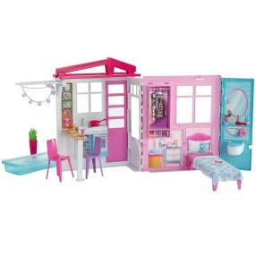 Barbie - Przytulny domek dla lalek z wyposażeniem Przenośny FXG54
