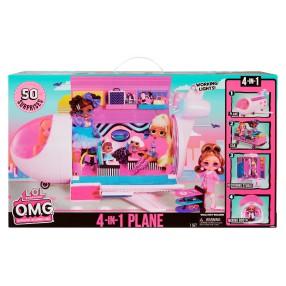 L.O.L. SURPRISE - Samolot 4w1 dla lalek LOL OMG i 50 niespodzianek 576051