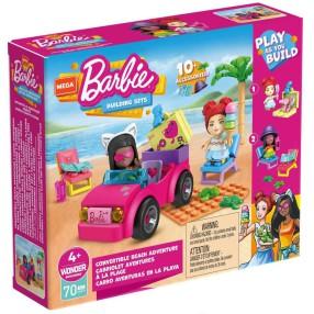 Mega Construx - Zestaw klocków Barbie Plażowanie w Malibu + 2 figurki GWR79