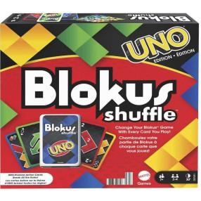 Mattel - Gra Blokus Shuffle z kartami Edycja UNO GXV91