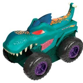 Hot Wheels Monster Trucks - Pożeracz aut Mega Wrex + Metalowy Samochodzik Twinduction GYL13