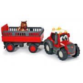 Dickie ABC - Traktor Massey Ferguson z przyczepą Światło Dźwięk 4115002