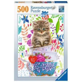 Ravensburger - Puzzle Kocięta w kubku 500 elem. 150373