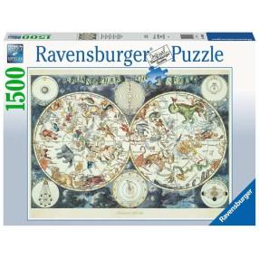 Ravensburger - Puzzle Mapa z fantastycznymi zwierzętami 1500 elem. 160037