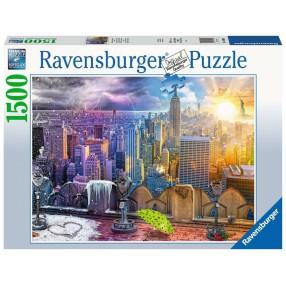 Ravensburger - Puzzle Nowy Jork w lecie i zimie 1500 elem. 160082
