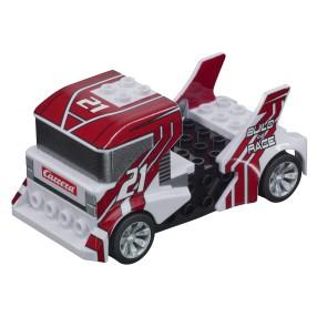 Carrera GO!!! - Build 'n Race - Race Truck White 64191