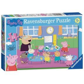 Ravensburger - Puzzle Świnka Peppa i cała klasa 35 elem. 086276