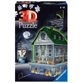 Ravensburger - Puzzle 3D Nawiedzony dom świecący w ciemności 216 elem. 112548