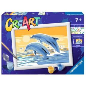 Ravensburger - CreArt Malowanka dla dzieci Delfiny 200733