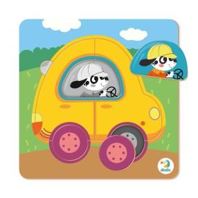 Dodo - Puzzle Sorter Mini Samochód 5 el. 300349