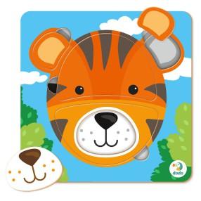 Dodo - Puzzle Sorter Mini Tygrys 5 el. 300351