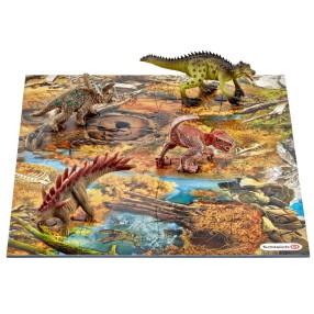 Schleich - Mini dinozaury z puzzlami Bagna 42331