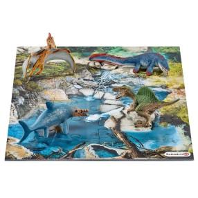 Schleich - Mini dinozaury z puzzlami Wodopój 42330