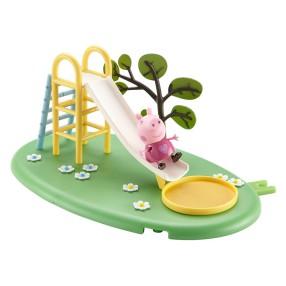 TM Toys Świnka Peppa - Plac zabaw Peppy z figurką Zjeżdżalnia 05329 A
