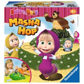 Ravensburger - Masza i Niedźwiedź Gra Masza Hop 212064