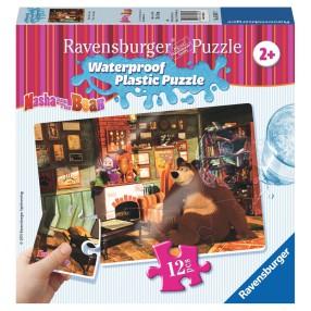 Ravensburger - Masza i Niedźwiedź Puzzle wodoodporne U Niedźwiedzia 056071