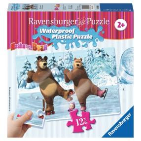 Ravensburger - Masza i Niedźwiedź Puzzle wodoodporne Lodowisko 056064