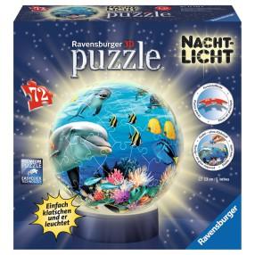 Ravensburger - Puzzle 3D 72 elementy Życie pod wodą Lampka nocna 121434