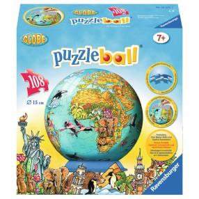 Ravensburger - Puzzle 3D Globus dla dzieci 108 elementów 122127