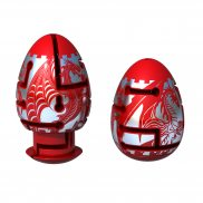 Smart Egg - Łamigłówka Jajko Puzzle Labirynt RED DRAGON 30890 B