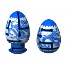 Smart Egg - Łamigłówka Jajko Puzzle Labirynt BLUE DRAGON 30890 A