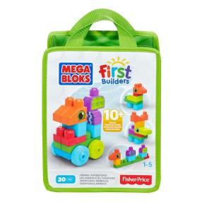 Mega Bloks First Builders - Torba z klockami Zwierzęce przygody CNH10