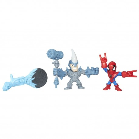 Hasbro Super Hero Mashers Micro - 2-pak Spiderman vs. Rhino B6687