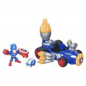 Hasbro Super Hero Mashers Micro - Kapitan Ameryka z pojazdem B6686
