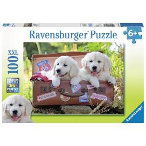 Ravensburger - Podróżujące szczeniaczki Puzzle XXL 100 elem. 105380