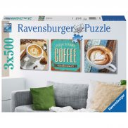 Ravensburger - Puzzle Coffee time tryptyk 3 x 500 elem. 199198