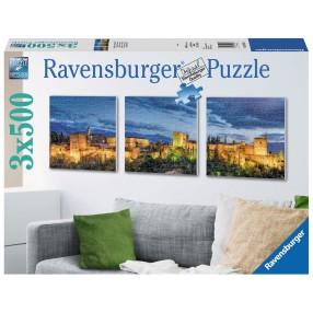Ravensburger - Puzzle Alhambra wieczorową porą tryptyk 3 x 500 elem. 199181