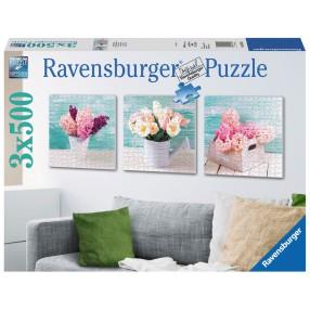Ravensburger - Puzzle Kwiatowa kompozycja tryptyk 3 x 500 elem. 199228