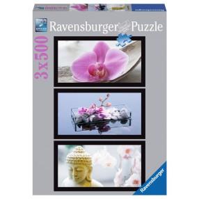 Ravensburger - Puzzle Orchidea tryptyk 3 x 500 elem. 162871